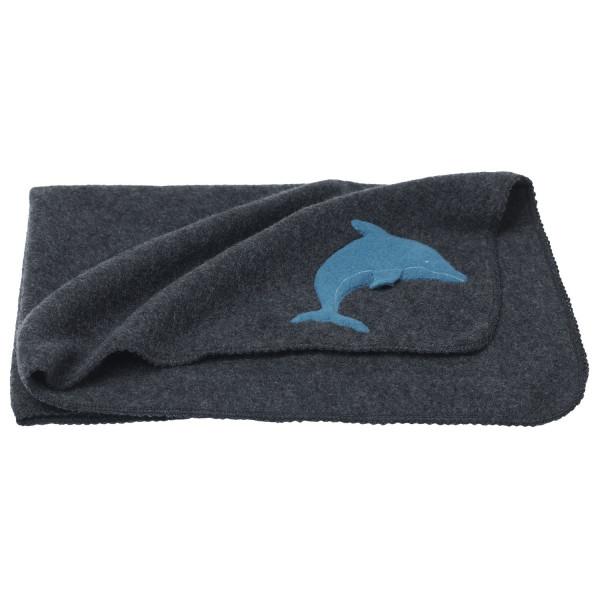 Fleecewickeltuch mit Delfin